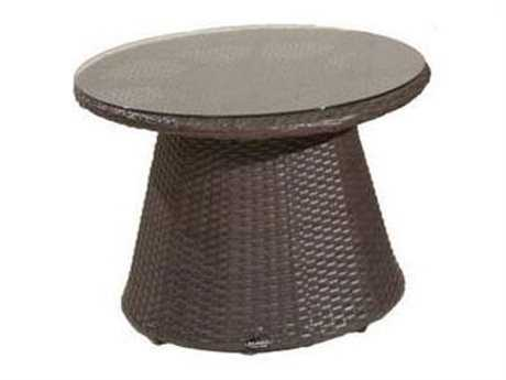 Jaavan Zen Wicker 24'' Wide Round Coffee Table