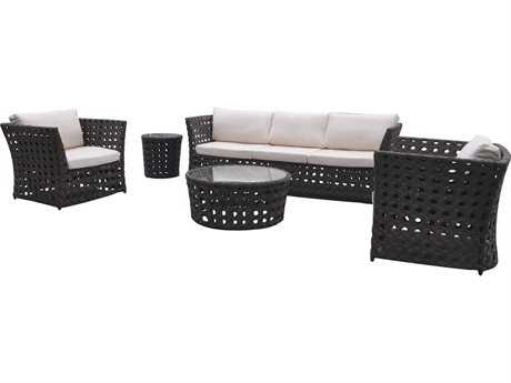 Jaavan Open Wicker Lounge Set