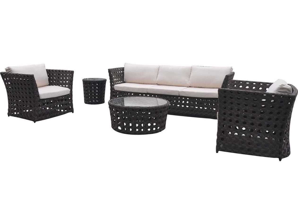 Jaavan Open Wicker Sofa Set Openset