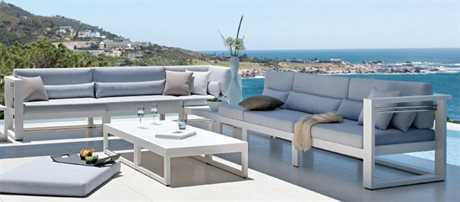 Jaavan Pure Aluminum Sectional Lounge Set JVPURESET