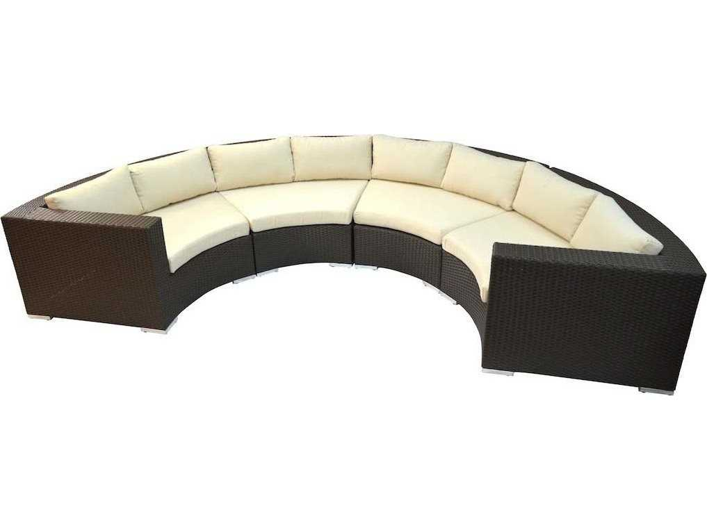 Jaavan Round Wicker Sectional Jvroundset