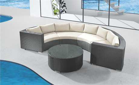 Jaavan Round Cushion Wicker Lounge Set