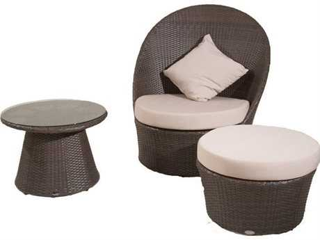 Jaavan Zen Wicker Lounge Set