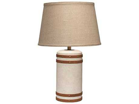 Jamie Young Company Barrel Canvas Small Table Lamp