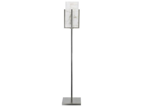 Jamie Young Company Ghost Stand Antique Silver & Alabaster Floor Lamp