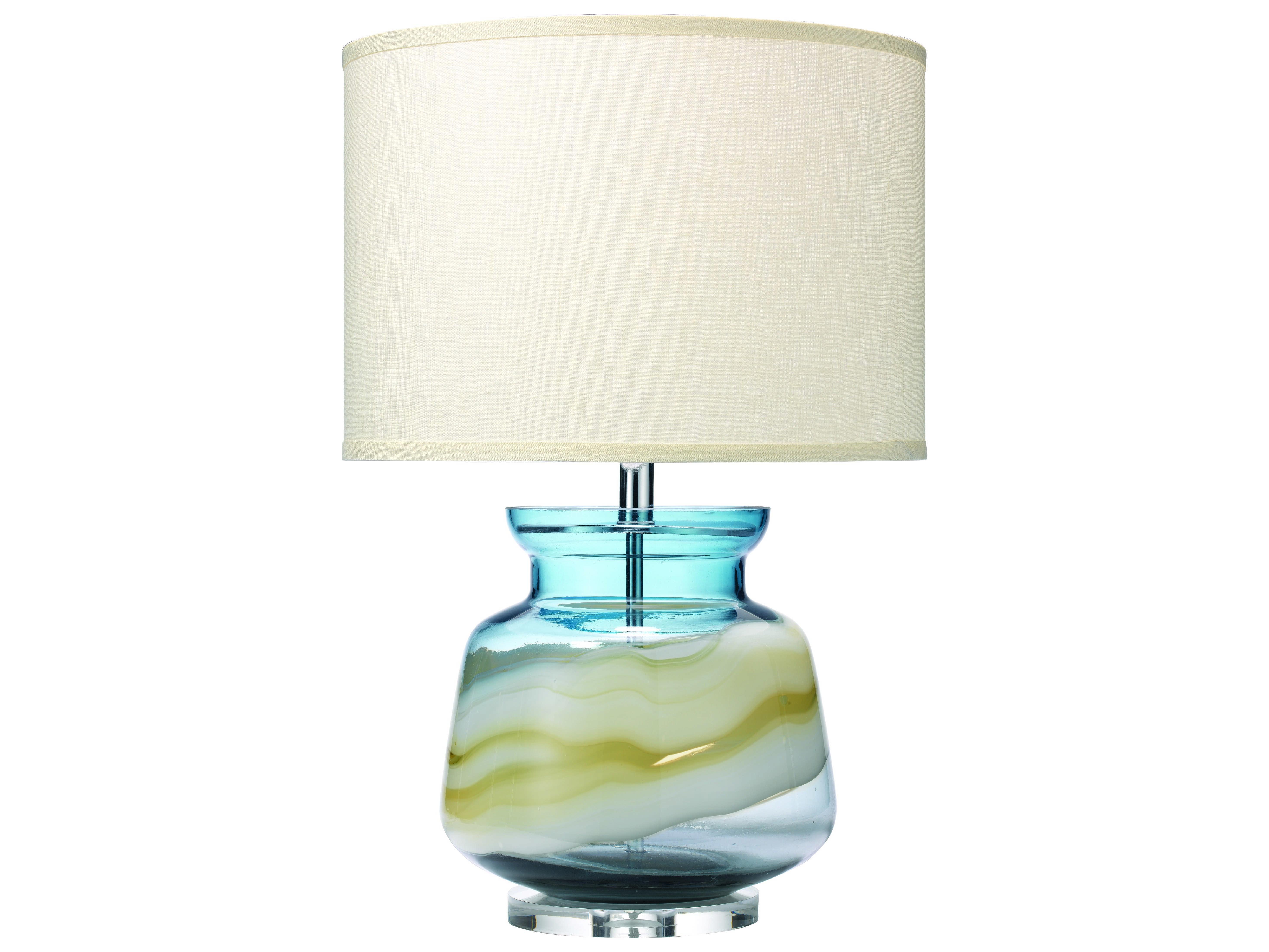 Jamie Young Company Ursula Blue Swirl Glass Buffet Lamp