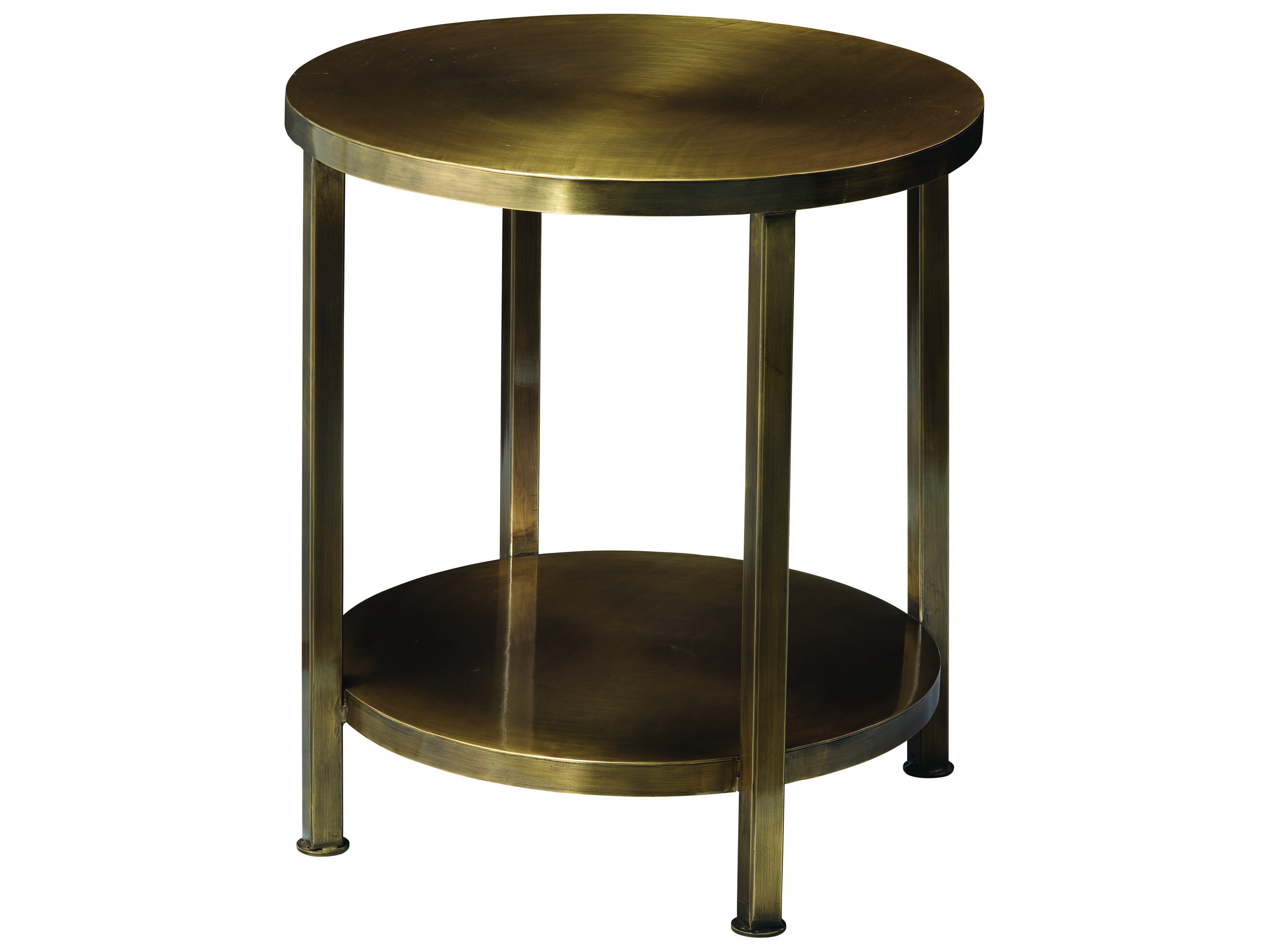 Jamie young company alloy 20 39 39 round antique brass side - Antique side tables for living room ...