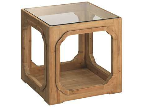 Jamie Young Company Moon Lake 21.5'' Square Natural Wood Side Table
