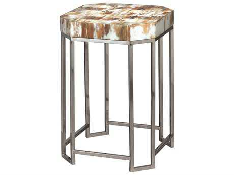 Jamie Young Company Octave 15'' Octagon Faux Horn Small Side Table