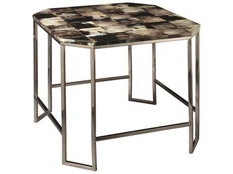 Jamie Young Company Octave 26'' Octagon Gray Faux Horn Side Table