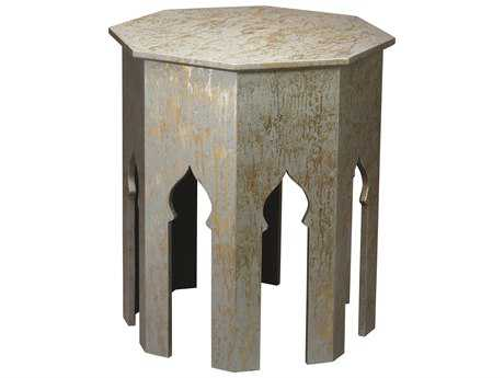 Jamie Young Company Tangier 24.75'' Octagon Silver Splash Large End Table