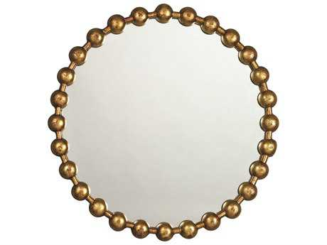 Jamie Young Company Ball Chain 25.5'' Round Antique Gold Small Mirror