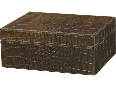 Jamie Young Company Chadwick Olive Faux Croc Box