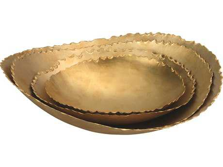 Jamie Young Company Circe Matte Brass Bowls