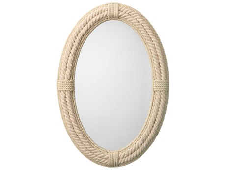 Jamie Young Company Delta White 26''W x 38''H Oval Wall Mirror