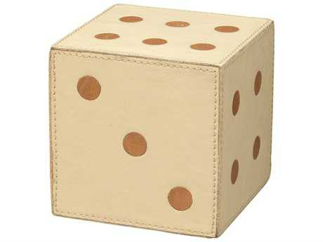 Jamie Young Company Medium Cream Leather Dice