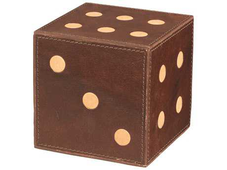 Jamie Young Company Medium Tobacco Leather Dice