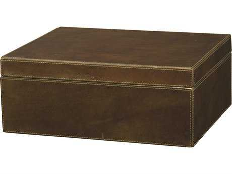 Jamie Young Company Earl Olive Leather Box