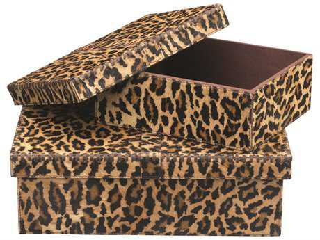 Jamie Young Company Frontera Leopard Boxes (Set of 2)
