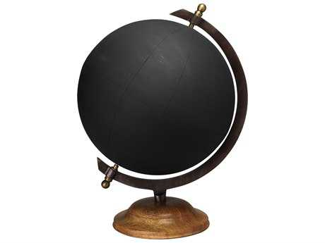 Jamie Young Company Chalk Board Large Black Globe