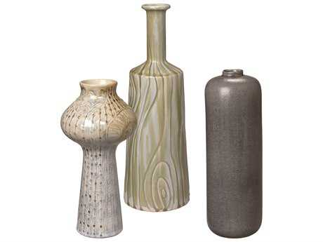 Jamie Young Company Trilogy Suite Ceramic Vases (Set of 3)