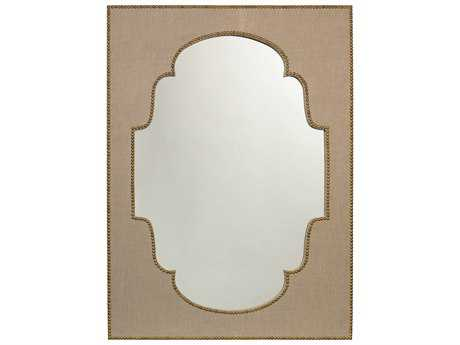 Jamie Young Company Versailles 36W x 48H Natural Linen Large Mirror