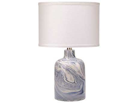 Jamie Young Company Atmosphere White & Silver Ceramic Table Lamp