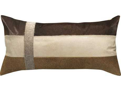Jamie Young Company Sidney White & Buff Pillow