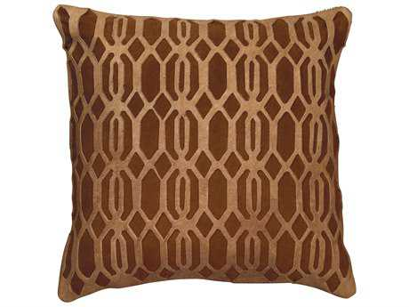 Jamie Young Company Link Chocolate Pillow