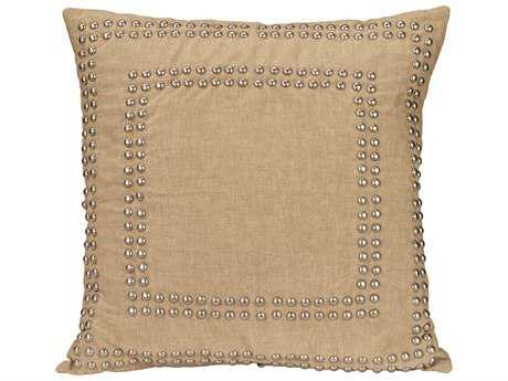 Jamie Young Company Studded Natural Pillow