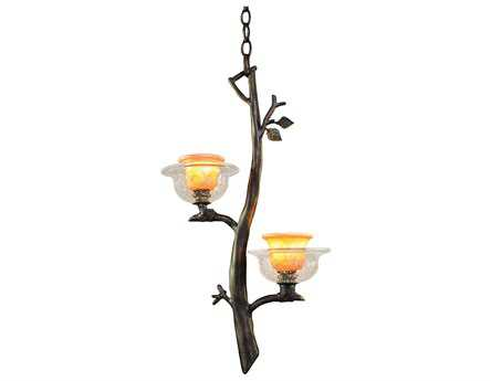 Kalco Lighting Cottonwood Art Glass Two-Light Mini-Pendant