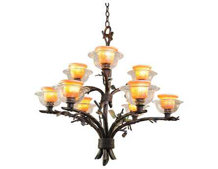 Kalco Lighting Cottonwood Nine-Light 32'' Wide Chandelier