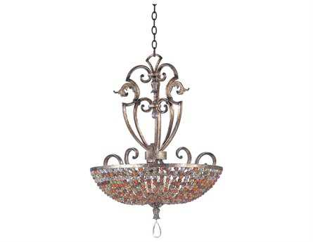 Kalco Lighting Chesapeake Antique Silver Leaf Six-Light Pendant