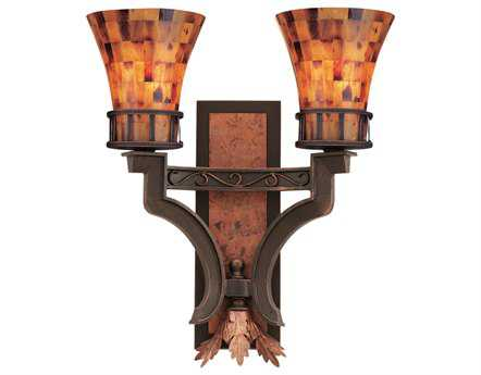 Kalco Lighting Marlowe Antique Copper Two-Light Wall Sconce