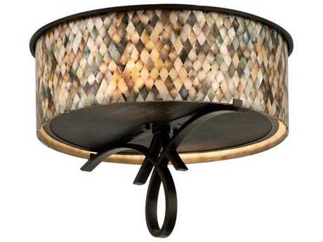 Kalco Lighting Grayson Heirloom Bronze Two-Light 20'' Wide Flush Mount Light