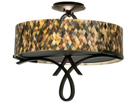 Kalco Lighting Grayson Heirloom Bronze Two-Light 20'' Wide Semi-Flush Mount Light