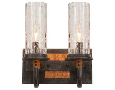 Kalco Lighting Bentham Natural Iron Two-Light Vanity Light