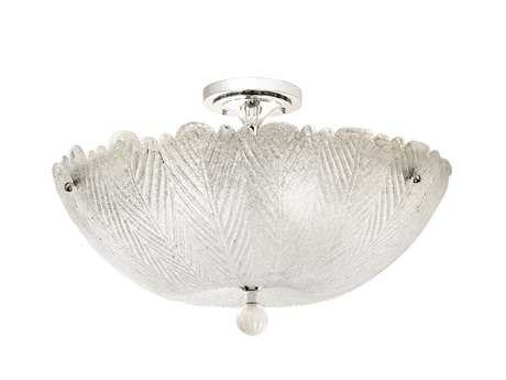 Kalco Lighting Croydon Chrome Six-Light Semi-Flush Mount Light