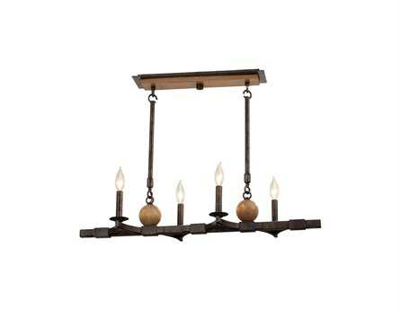Kalco Lighting Hampton Florence Gold Four-Light Island Light