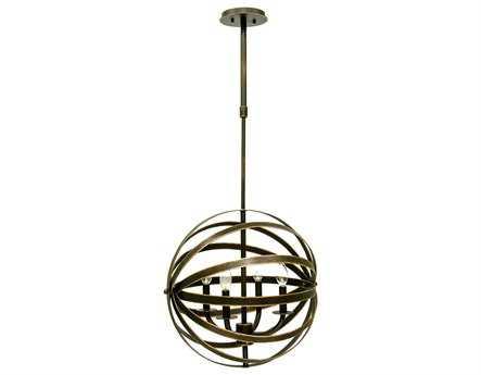 Kalco Lighting Brandt Antique Copper Four-Light 20'' Wide Chandelier
