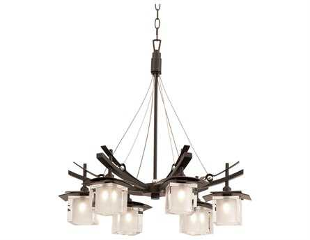 Kalco Lighting Nijo Tawny Port Six-Light 26'' Wide Chandelier