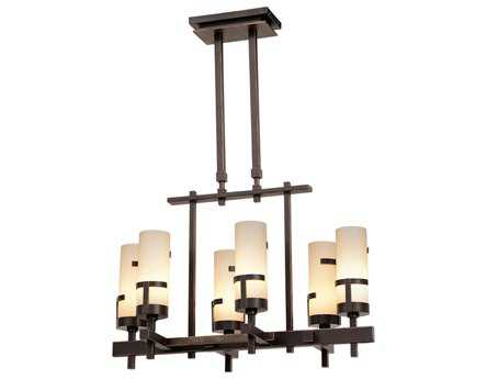Kalco Lighting Emsworth Tawny Port Six-Light 14'' Wide Grand Chandelier