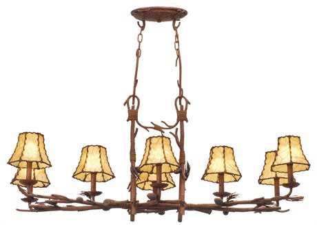 Kalco Lighting Ponderosa Eight-Light 16'' Wide Chandelier