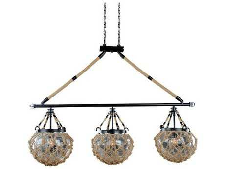 Kalco Lighting Hatteras Satin Bronze Three-Light 43'' Wide Island Light