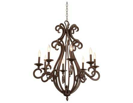 Kalco Lighting Santa Barbara Eight-Light 31'' Wide Chandelier