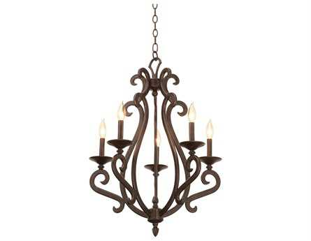 Kalco Lighting Santa Barbara Five-Light 22'' Wide Chandelier
