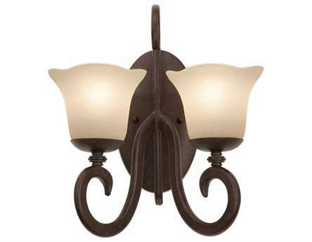 Kalco Lighting Santa Barbara Tortoise Shell Two-Light Wall Sconce