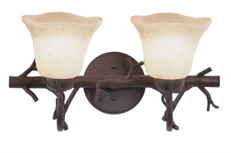 Kalco Lighting Vine Bark Two-Light Vanity Light