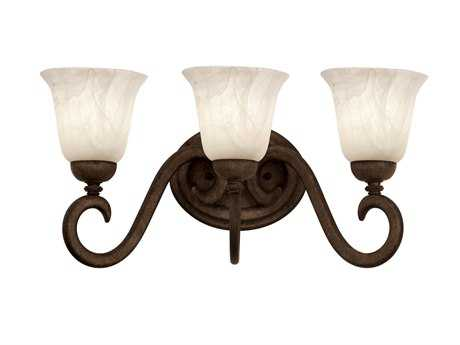 Kalco Lighting Santa Barbara Tortoise Shell Three-Light Vanity Light