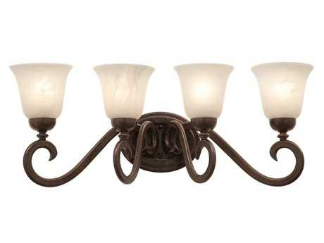 Kalco Lighting Santa Barbara Tortoise Shell Four-Light Vanity Light